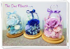 """母親節保鮮花瓶 以下3種顏色 淺藍,深藍,粉紫 $488 Size:约15*10cm (以上款式附送""""Happy Mother's Day 木牌) (此産品只限門市自取,不設送貨)"""