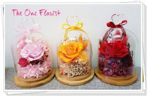 """母親節保鮮花瓶 以下3種顏色 紅,粉紅,橙 $488 Size:约15*10cm (以上款式附送""""Happy Mother's Day 木牌) (此産品只限門市自取,不設送貨)"""